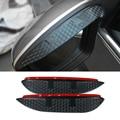 Diseño de Coches de Carbono espejo retrovisor lluvia ceja Impermeable Hoja Flexible Protector Accesorio Para Skoda Superb 2008-2016