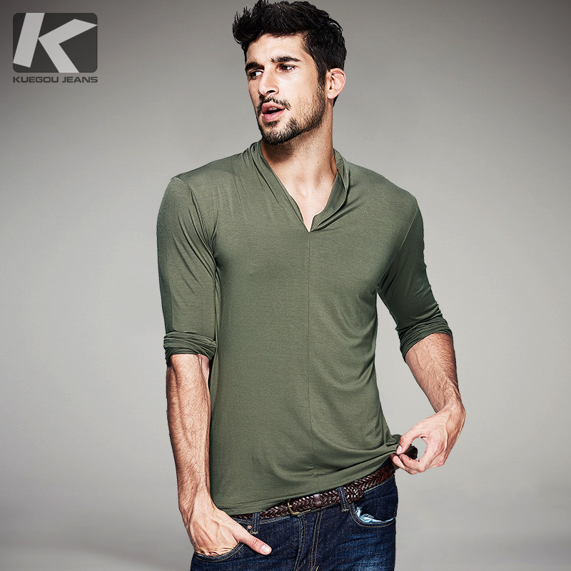 New spring fashion mens casual t shirts long sleeve brand for Men s fashion casual t shirts