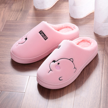 Cartoon Bear Winter Women Slippers Fashion Animal Home Fur Slippers Slip On Warm House Shoes Men Women Lovers Indoor Shoes 3