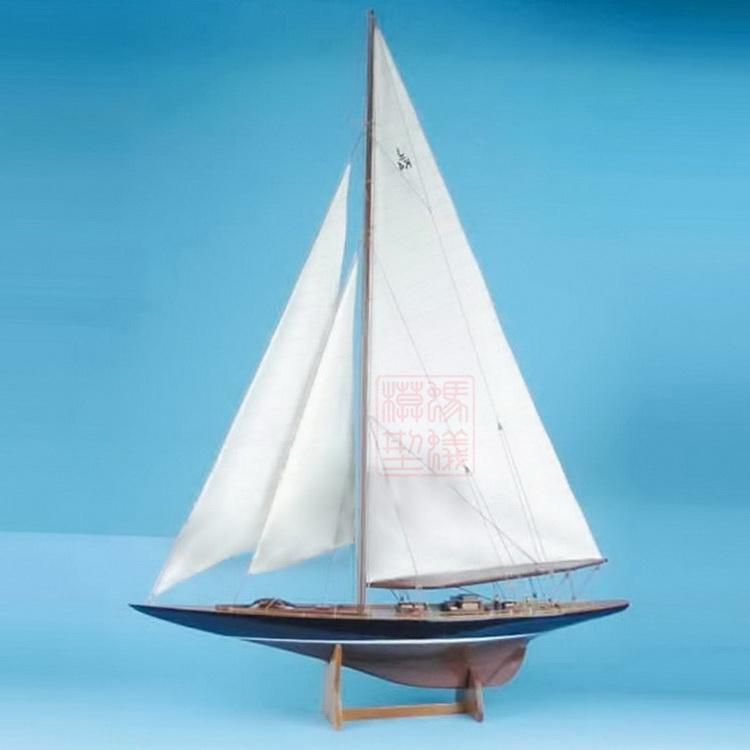 Wooden Ship Models Kits Diy Train Hobby Model Ship Assemblage 3d Laser Cut Wood Scale Model 1/80 Endeavour 1934 Boat Body