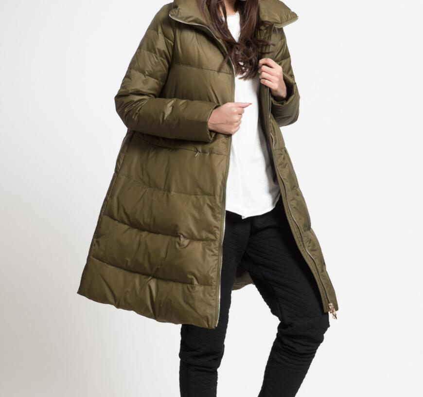 Size S--10XL Thick   Down     Coat   A-line Women Winter Jacket Loose Style   Down   jacket Winter   Down     Coat   With High Collar
