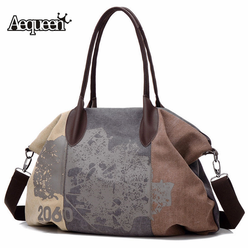 Bag Large Graffiti Bags Canvas Handbag Brands Hobo Shoulder Trapeze Totes Big Messenger Bag