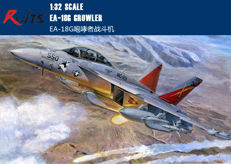 RealTS Trumpeter 1/32 03206 EA-18G Growler model kit realts trumpeter 1 72 01620 tu160 blackjack bomber model kit