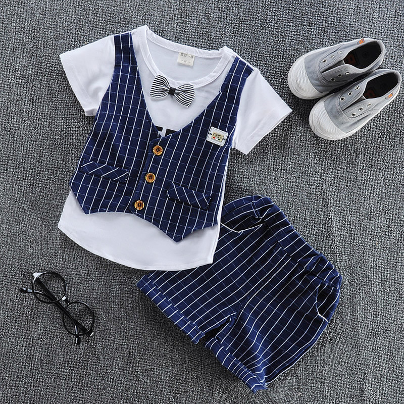 Baby boy clothes 2017 summer children clothing sets t-shirt+ shorts suit gentleman plaid printed clothes newborn tr baby boy clothes 2017 brand summer kids clothes sets t shirt pants suit clothing set star printed clothes newborn sport suits