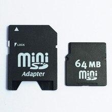 64MB MiniSD Card MINISD Memory Card with adapter 64MB Mini SD card Phone card