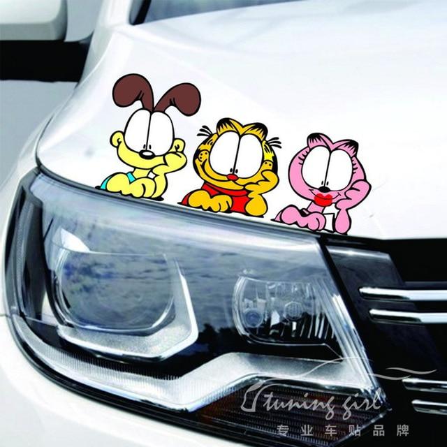 Naklejki Samochodowe Kot Garfield Cartoon Piękny Kolorowy