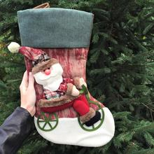 2017 Hot Marry Christmas Sock Stocking Decoration Craft Plush Santa Claus Soft Stuffed Doll Toys For Children Kid Gift Ornaments