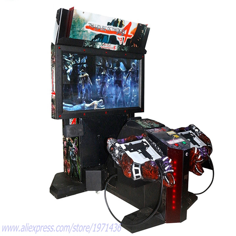 Indoor Coin Operated Amusement Equipment House Of The Dead 4 Gun
