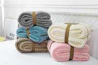New Blanket Magic Velvet Strips Flannel Double Layer Cut Velvet Jacquard Flannel Double Layer Lamb Blanket