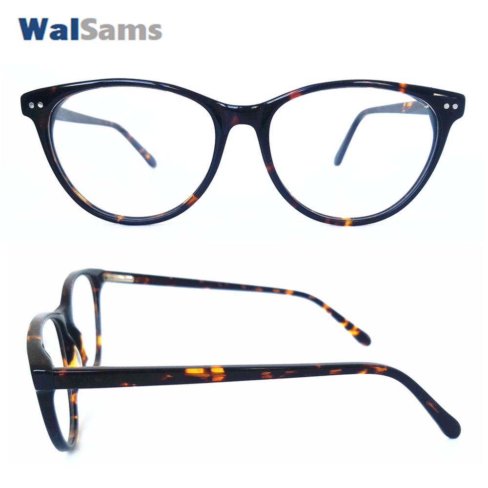 b1ce8e6b9d Cat Eye Eyeglasses Frame with Handmade Acetate Super Thin with Metal Nails  Spring can Change Reader Prescription Lens Sams04 -in Eyewear Frames from  Apparel ...