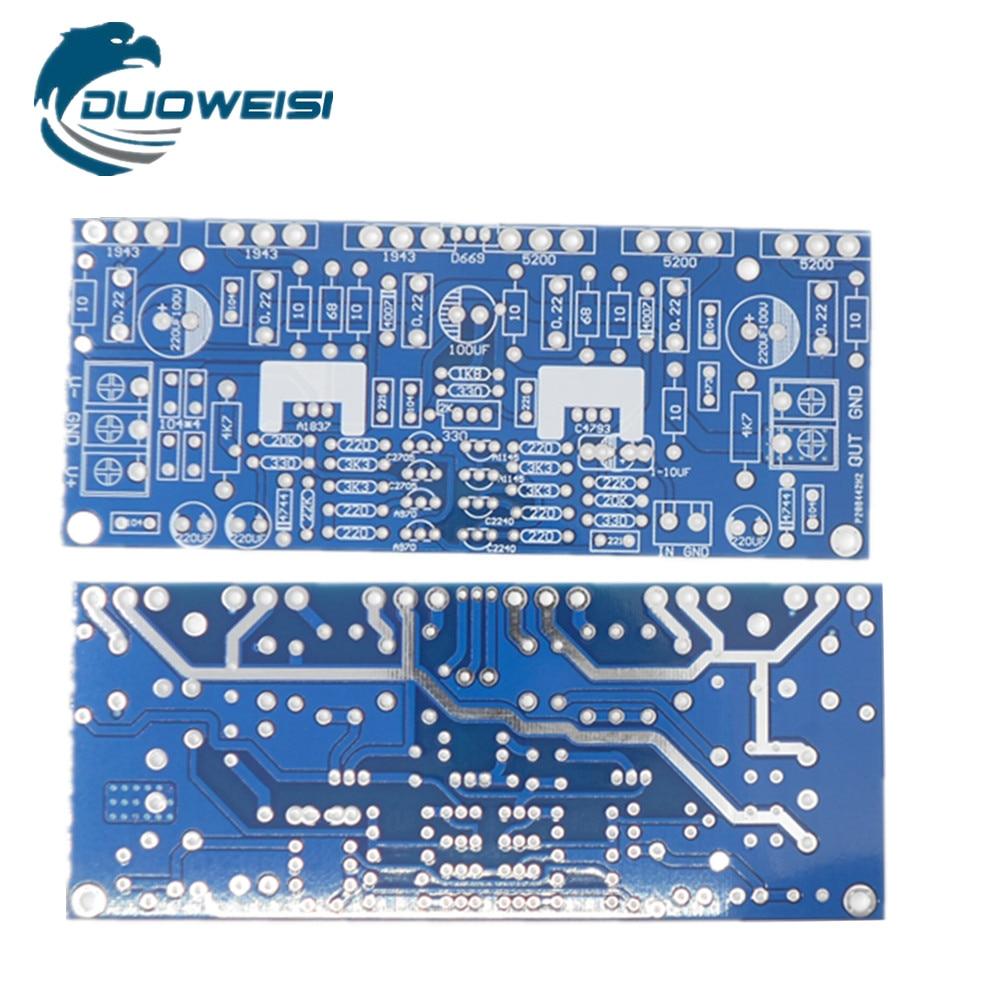 Mono 300W power amplifier board 1943+5200 high power amplifier board PCB empty version lige horloge 2017