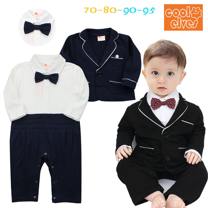 Baby Boy Newborn Rompers Clothes Kid's Infant Baby Tuxedo Suit Clothing Sets Gentleman Roupa Jumpsuits de bebe Long Clothes Top 2017 nice boy baby infant formal gentleman baby boy clothes button necktie suit romper 0 24m long sleeve baby clothing sets