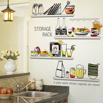 SHIJUEHEZI] pegatina de cocina vinilo DIY estante de almacenamiento ...