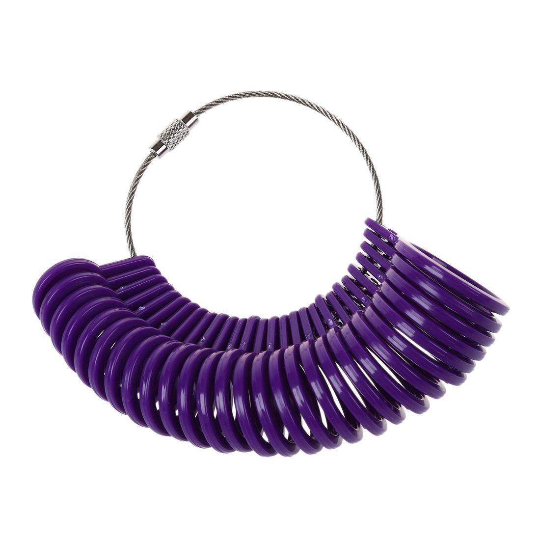 US Plastic Finger Measure Meter Ring Mass 3-13 Set Purple Jewelry toolsUS Plastic Finger Measure Meter Ring Mass 3-13 Set Purple Jewelry tools