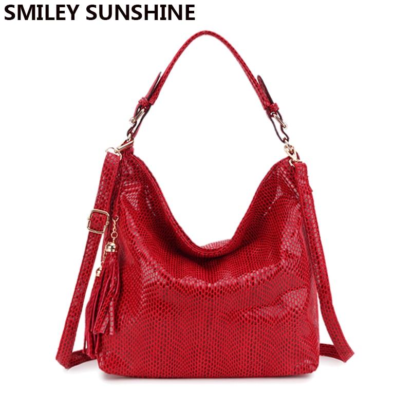 SMILEY SUNSHINE brand serpentine leather womens