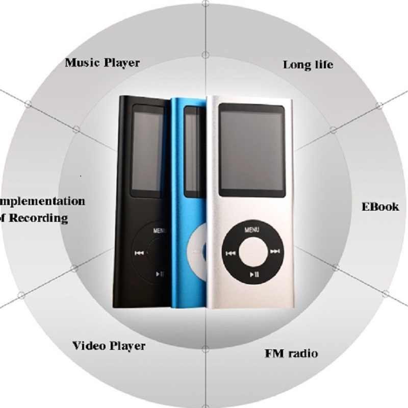 ZHKUBDL 1.8 inch mp4 player 16GB 32GB Music playing with fm radio video player E-book built-in memory player MP4