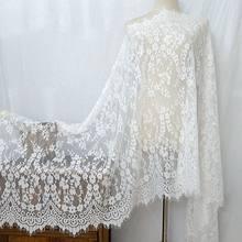 Grande 70cm high-end roupas xale véu vestido de casamento tecido de renda decoração para casa malha cílios guarnição do laço acessórios