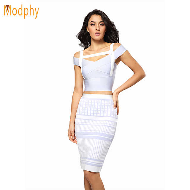 76cf469b586 2018 New women 2 two piece spaghetti strap sexy bandage dress jacquard  rayon sky blue winter party dresses dropshipping HL422