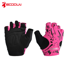 Boodun Brand Women Bodybuilding Fitness Breathable Gloves Weight Lifting Sport Antiskid Breathable Dumbbell Gym Yoga Gloves