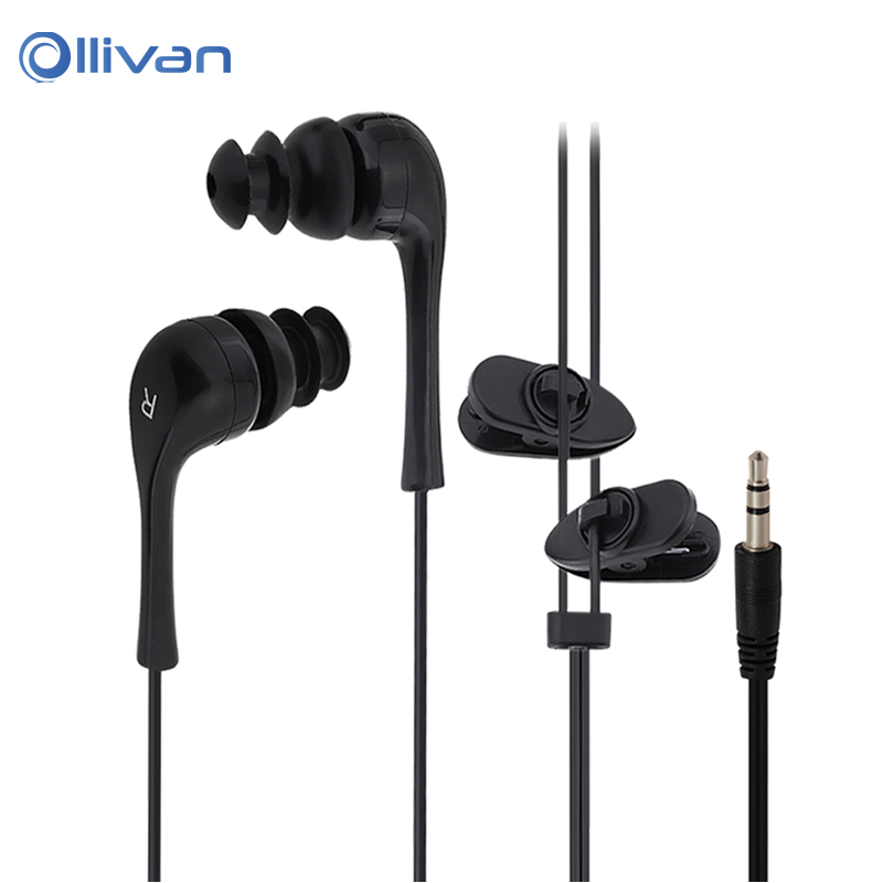 Ollivan 3.5mm Universal waterproof Swimming Earphone In-ear earphone sport earplugs earbuds for mp3 mp4 for all Mobile phones