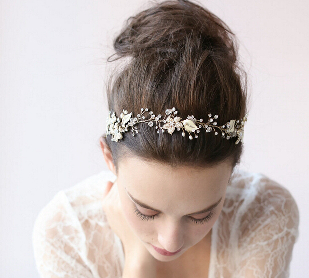 Wedding Hair Vine Rhinestone And Keishi Pearl Flower Piece Fl Garden Winery Owdjewelry Mariya In Party Diy Decorations From Home