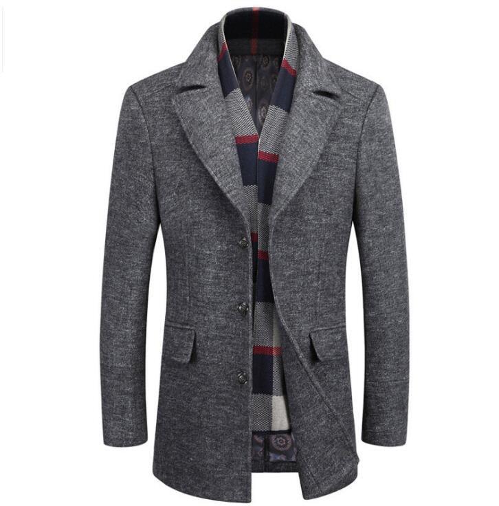 ZOEQO สินค้าใหม่คุณภาพสูงเสื้อขนสัตว์ผู้ชายผ้าขนสัตว์ Coat Slim Fit แจ็คเก็ตบุรุษ Mens Casual Outerwear แจ็คเก็ต M 4XL ขนาด-ใน แจ็กเก็ต จาก เสื้อผ้าผู้ชาย บน   2