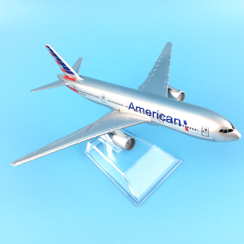 Free Shipping American Airlines Boeing 777 16cm alloy metal model aircraft child Birthday gift plane models toys for children in Model Building Kits from Toys Hobbies
