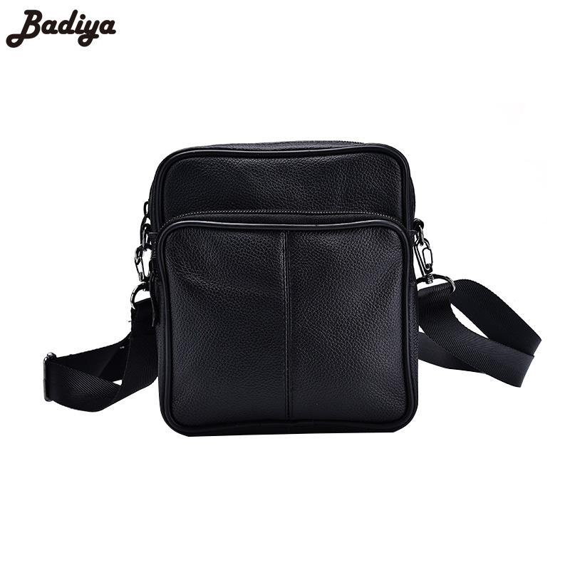 New Men's Messenger Bag Solid Shoulder Bag Genuine Leather Small Flap Bag Crossbody Bags for Coins Phone Purse Sac Mini Handbag neweekend genuine leather bag men bags shoulder crossbody bags messenger small flap casual handbags male leather bag new 5867