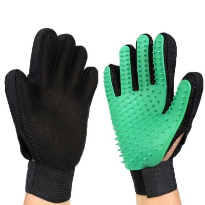 Щетка для собак, перчатка для питомцев, мягкая эффективная перчатка для ухода за домашними животными и кошками, перчатка для ванны собак, товары для чистки кошек, перчатка для домашних животных, расчески для собак - Цвет: green1