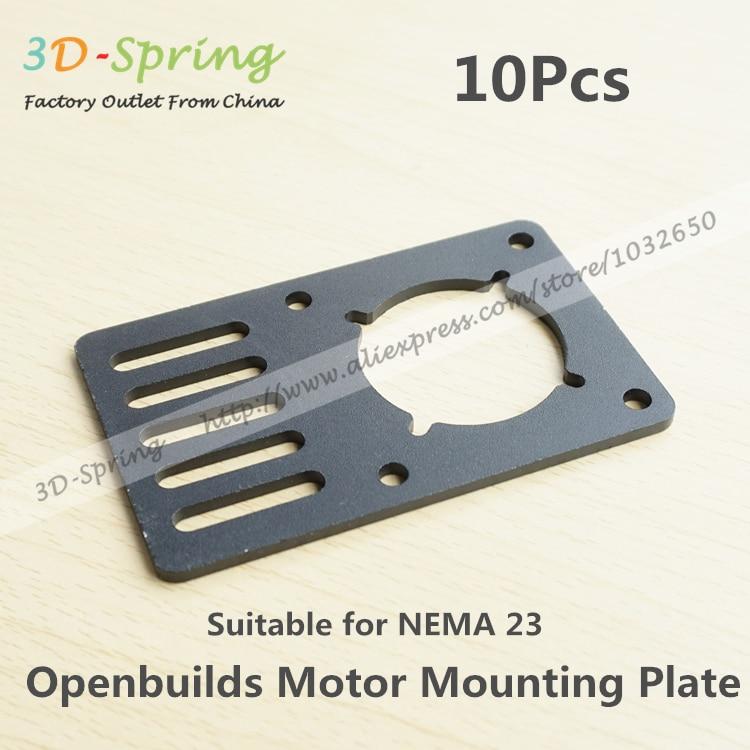 10Pcs Openbuilds Motor Mount Plate For NEMA 23 96.5*60*3mm Aluminum Alloy CNC Special Fixing Plate For 3D Printer 1pcs openbuilds motor mount plate for nema 17 82 39 5 3mm aluminum alloy cnc special fixing plate for 3d printer