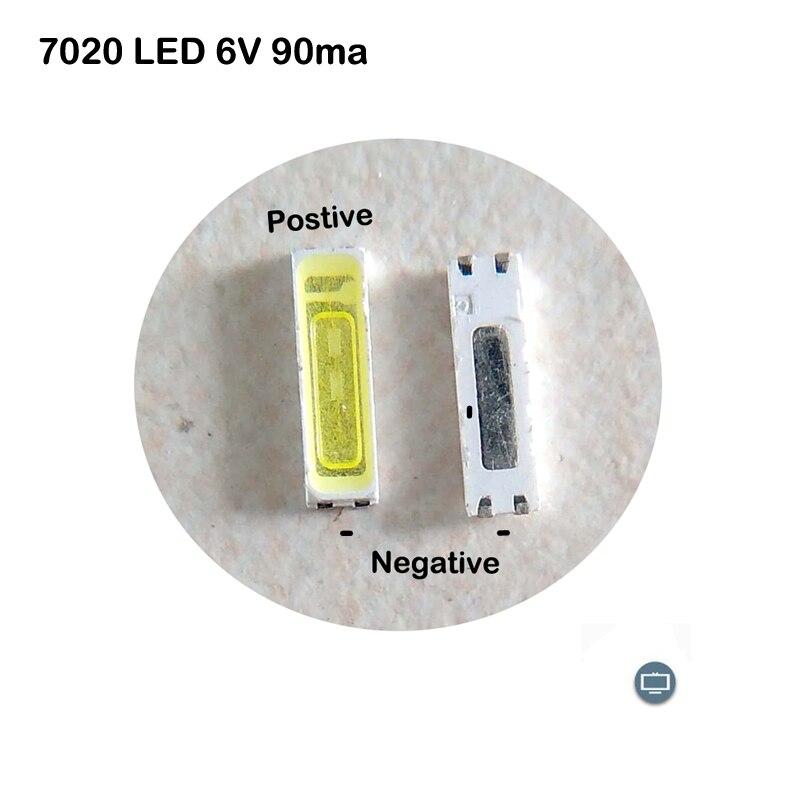 7020 LED 6V 90ma 3V 150ma For TV Backlight Repair 50PCS 100PCS 200PCS Per Package Available