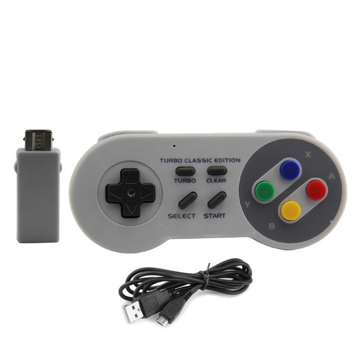 For NES (SNES)Super Nintendos Classic MINI Editon 2.4GHZ Wireless Controller Gaming Joystick Joypad Gamepad Game Accessories image