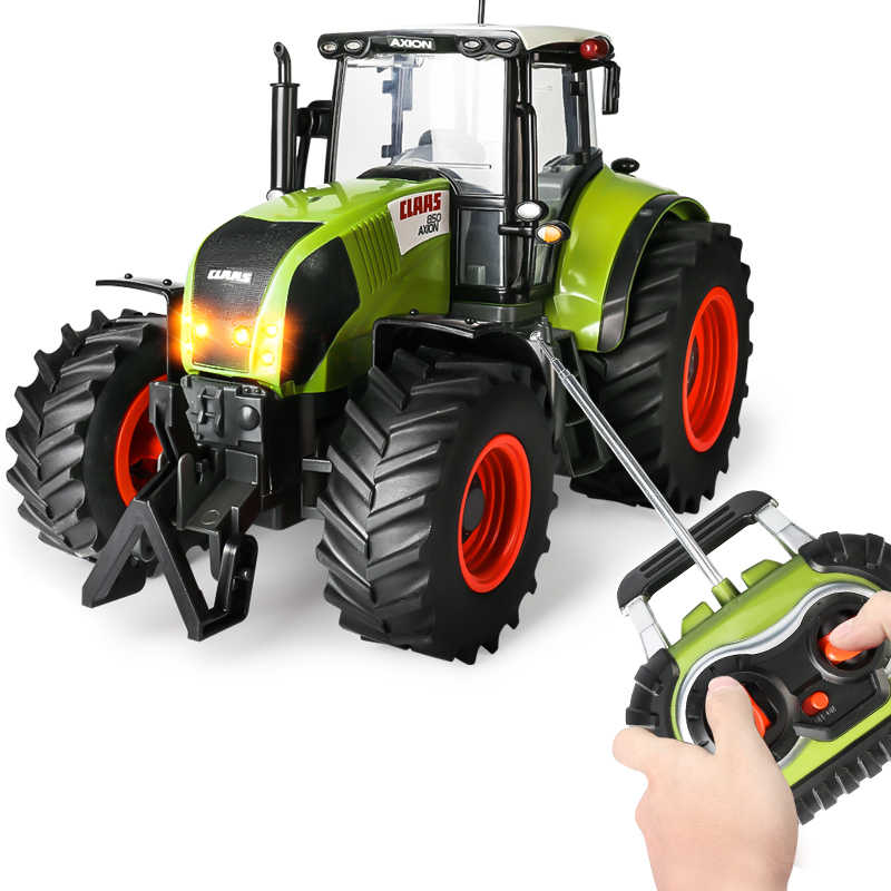 1:16 RC Truk Trailer Remote Control Traktor 4 Roda Pertanian Teknik Trailer Model Mobil Mainan untuk Anak Laki-laki Hobi RC Truk