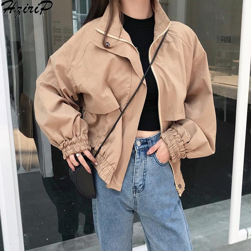 Hzirip Sweet Women Coat Full Sleeve 2018 Autumn Winter WindBreak Fashion Wild Coat Casual Solid Loose Preppy Style Overcoat