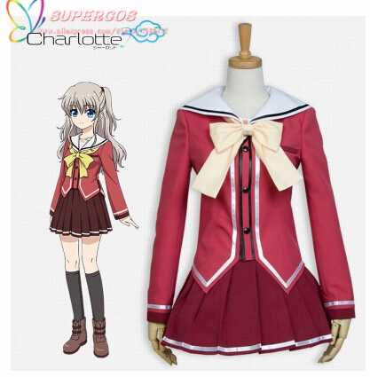 Capable High Quality Charlotte Nao Tomori School Uniform Cosplay Costume perfect Customized For You Making Things Convenient For The People