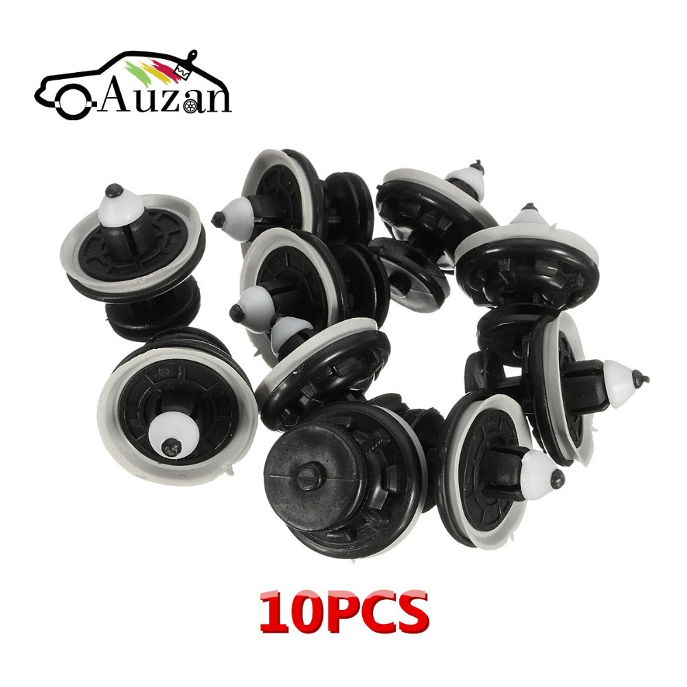 10Pcs Interior Door Card Panel Trim Clips For VW /Touran /Tiguan Golf Passat Jetta 6Q0868243 Black Plastic