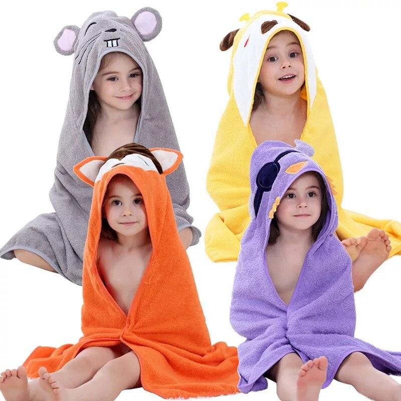 Summitkids Baby Bathrobes Newborn Girls Hooded Summer Pajamas Boys Colorful Animals Clothing Breathable Cotton Children's Towel elegant colorful stripe bohemia soft cotton towel