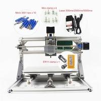 Mini CNC Machine 2418 With ER11 GRBL Control DIY Pcb Pvc Milling Wood Router Machine Working