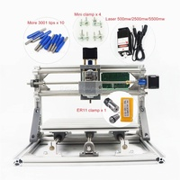 Mini CNC Machine 2418 With ER11 GRBL Control DIY Pcb Pvc Milling Wood Router Machine Working