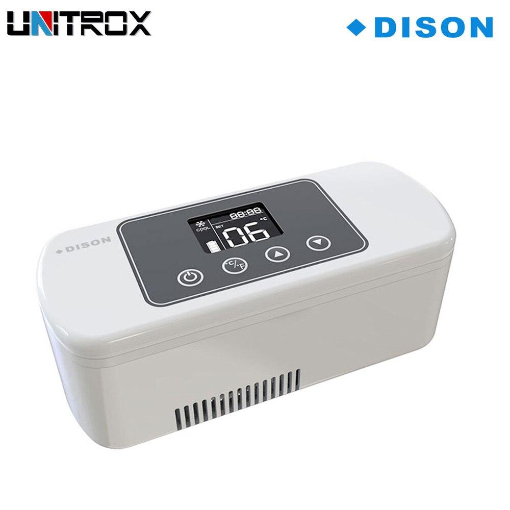 Объемный портативный мини-охладитель инсулина холодильная коробка 8/20 часов, перезаряжаемый ЖК-дисплей автомобильный охладитель инсулина ...