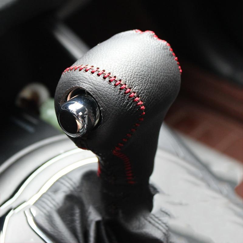 Leather Car Gear Shift Knob Head Covers Gear Shift Collars Case For Kia Sportage R Cerato K3 K5 Sorento 2011 2012 2013 2014 2015