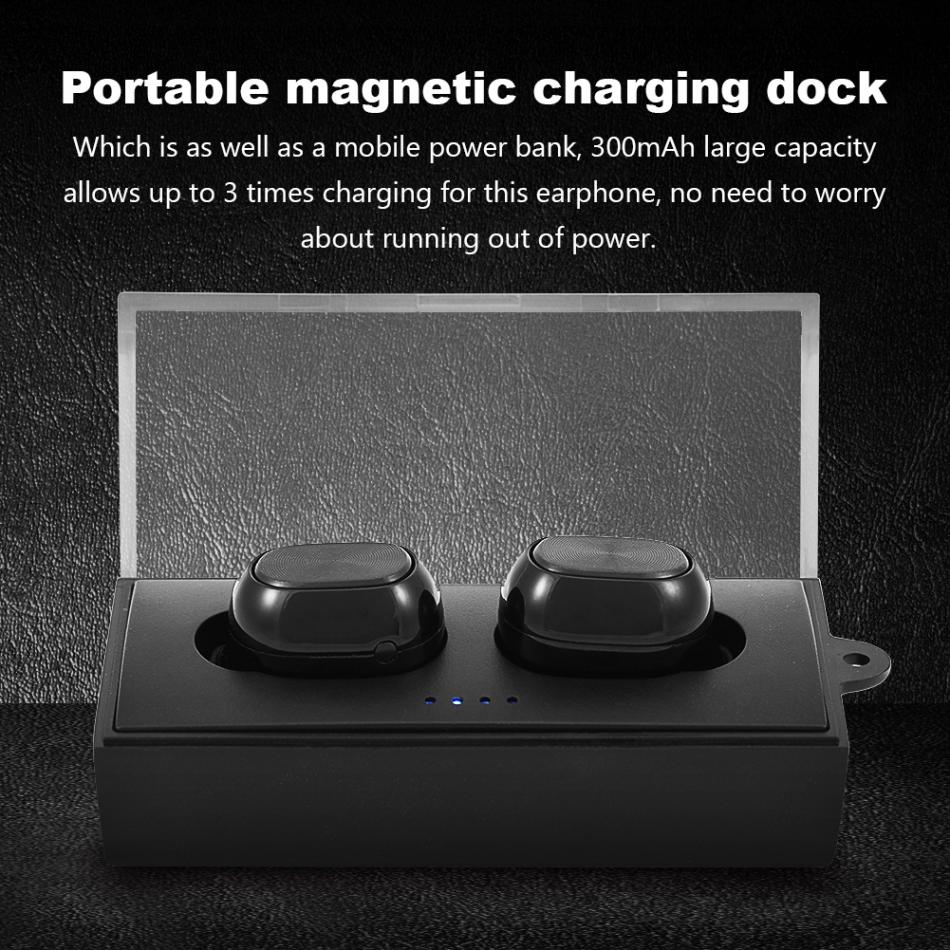 Q88 Twins Mini Invisible Bluetooth True Wireless Earphones HiFi Deep Bass Business In-Ear Earbuds new true mini twins wireless bluetooth 4 1 sports earbuds cordless invisible in ear earphones with charging case built in jh