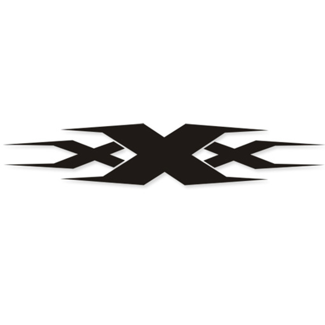 Xxx logo design reflective personality car stickercar body decor vinyl decals and labels
