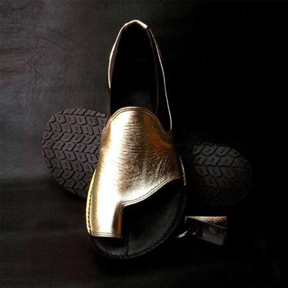 Мягкие Красивые Летние удобные туфли на плоской подошве; однотонные пляжные повседневные Искусственные женские сандалии для девочек; ортопедический корректор