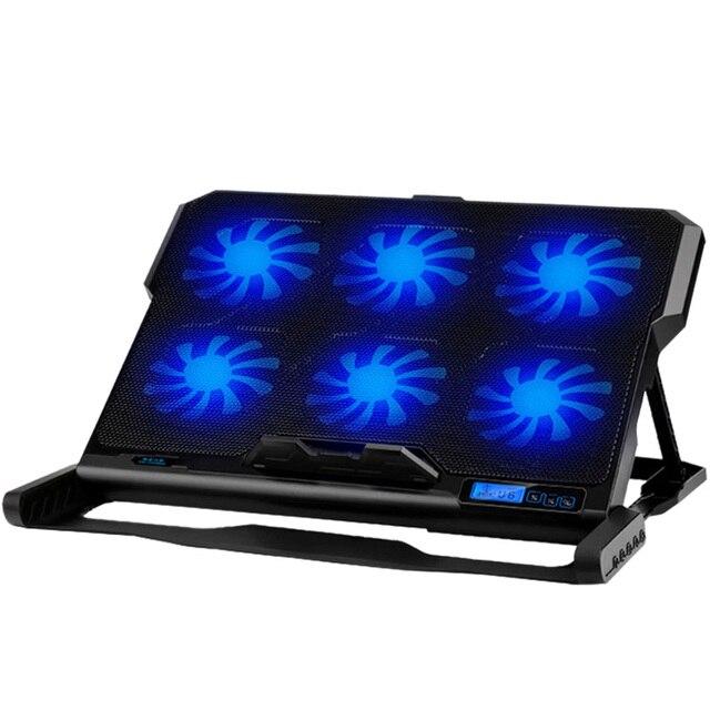 Podkładka chłodząca do laptopa chłodzenie laptopa sześć wentylatorów i 2 porty Usb podkładka chłodząca do laptopa stojak na notebooka do 13 16 Cal do laptopa