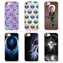 Alien Tumblr Quotes flower Hard Transparent Phone Case Cover Coque for Apple iPhone 4 4s 5 5s SE 5C 6 6s 7 Plus