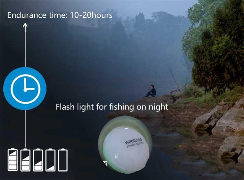 de Profundidade Fishfinder Sonar Ecobatímetro para Lago Mar Pesca IOS & Android