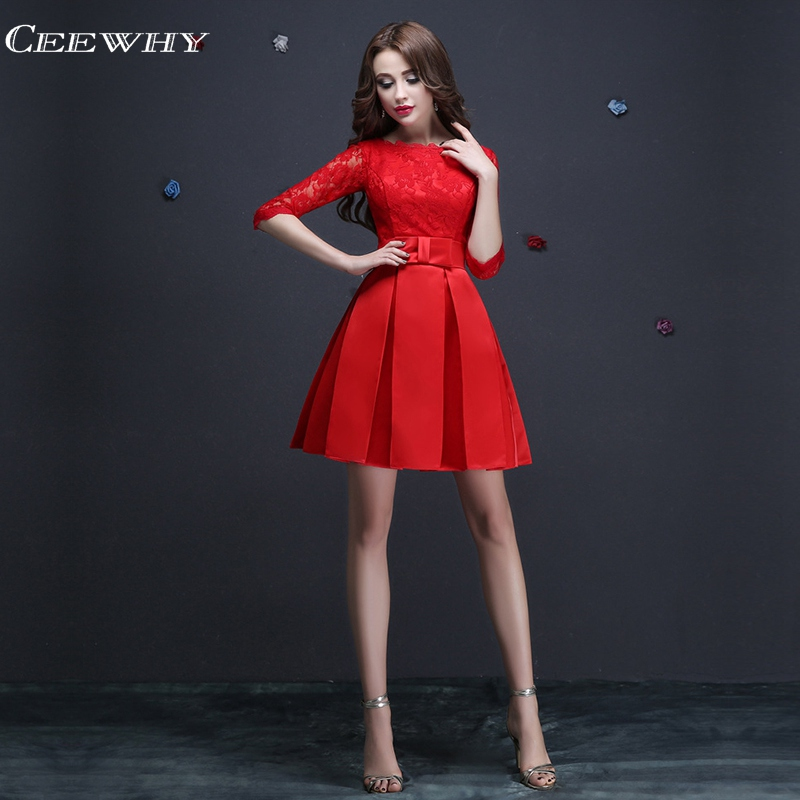 Embroidery Formal Occasion Women Lace Dress Short Party Dresses Above Knee Cocktail Dresses Homecoming Dress Vestidos De Fiesta