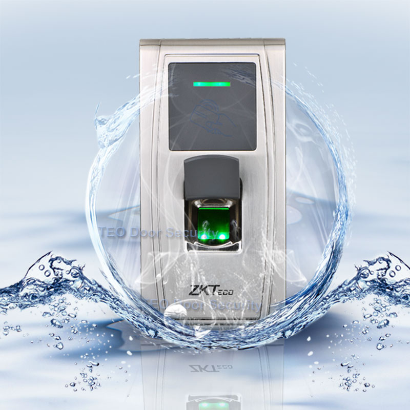 IP65 rated Outdoor Access Control ZKTeco MA300 100 000 Transaction Capacity ZEM720 Fast and Accurate Fingerprint