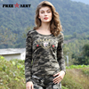 Brand T Shirt Women 2016 Autumn New Design Cotton Printing T Shirts Womens Tops Tees Military